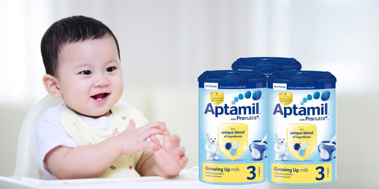Các loại sữa Aptamil hiện có